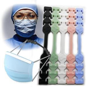 Protector de oreja gancho de silicona vendaje oreja cuerda antideslizante ajustable máscaras gancho tercer engranaje ajustable cara máscara hebilla