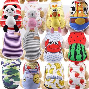 INS LINDETE PET PERRO ROPA DE PERRO CAT T-SHIRT Chaleco Pequeño algodón Puppy Puppy Soft Coat Chapet Chaqueta de verano Ropa de dibujos animados Disfraz Suministros para mascotas