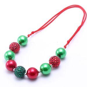 Adjusted corda Kid Gioielli vistosi collana della festa di Natale dei bambini delle Bubblegum Bead collana robusta per i bambini