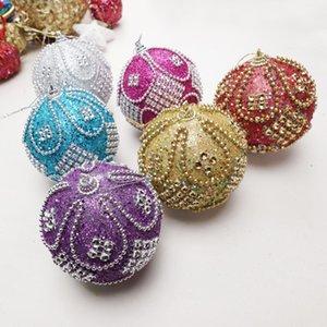 8CM Christmas Decorative Hanging Ball Ornaments Xmas Tree Pendants Festive Seasonal Decorations Home Party Decoration ornament