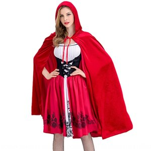 Halloween Little Red Riding Hood Acting clothing Little Red Hat clothing adult children's cosplay costume role-playing stage costume