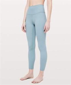 Yeni tasarım lüks markalululemonlulu lu tayt lu yoga limon pantolon kadın spor egz dikişsiz pembe Camo yogaworldd72f #