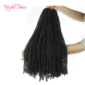 Dreadlocks by DIY Crochet hair extensions synthetic hair Weaver ombre blonde 18Inch bulk braiding hair Sister Micro Locs straight for bundles