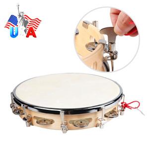 "Tambor de tambor de cuero de gamuza percusión de samba de samba de 10 """