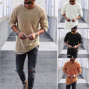 6 Farben Herren Strickpullover Solid Color O-Ansatz beiläufiges Winter-Strickjacke Männer mit langen Ärmeln Wollhemd Atutumn Herren Pullover