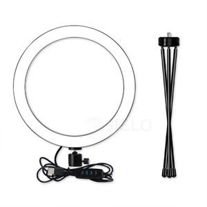 يعيش الصور الشخصية للضوء مصباح 6 بوصة إلى 10 بوصة USB عصا الجمال حامل الطاولة الجدول بقيادة دائرة الأعلى كاميرا الفيديو مصباح الدائري ضوء بالجملة