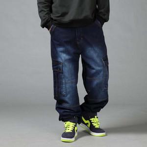 Men's Loose Jeans Hiphop Plus Size 44 46 Mens Long Trousers Spring Autumn Tide Man Colthing Baggy Pants 4 Seasons Hip Hop