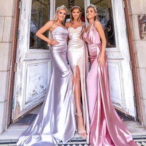 2020 new Mermaid purple bridesmaid dresses dwayne wade jersey Split Front Cheap Long Formal Vestidos De Dama De Honor