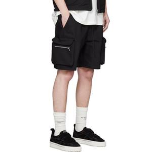 Pantalones cortos para hombre verano representamos con cordón Casual Male Herramientas cortocircuitos flojos pantalones pantalón corto deportivo moda de la calle