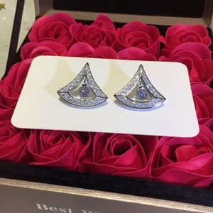Women's Wild Earrings High-end Custom Fire 925 Sterling Silver Earrings 18k Gold Diamond Scalloped Skirt Earrings hot