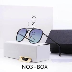 Óculos escuros de grife de luxo Sunglasses Man metal Mens Adumbral Óculos UV400 com caixa de alta qualidade Estilo P41 5 cores New Hot Tops Models
