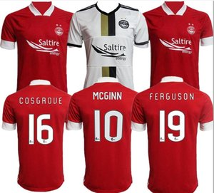 thaïlande 2020 2021 Aberdeen FC Football Maillots adulte maison rouge WILSON 20 21 Aberdeen FC McGinn football Chemises principal McKenna football uniforme