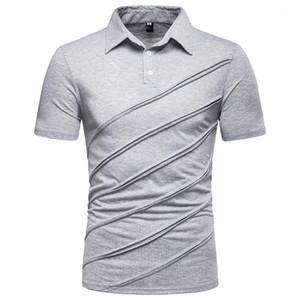 새로운 캐주얼 패션 망 유럽 코드 컬러 패치 워크 짧은 소매 T 셔츠 망 디자이너 의류 남성 디자이너 Tshirts