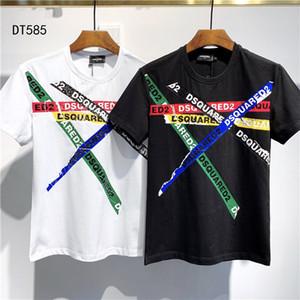 2020Bambi Cerfs T-shirt en coton imprimé hommes 3D Slim Fit Fashion Style Tee TOPS Homme Noir / Blanc # 003