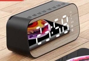 2019 새로운 무선 블루투스 스피커 미니 과체중 바순 미러 알람 시계 작은 소리