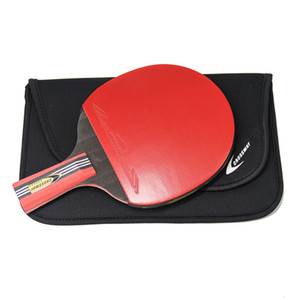 6 Star Upgrade Racket Table Tennis Rubber Blade 1 Piece Ping Pong Bat With Bag Professional Good Control Pen-hold Grip T190927
