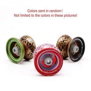 Yoyo 장난감 베어링 문자열 yo yo With String 금속 합금 클래식 장난감 아이들을위한 마법 선물 무작위 색상