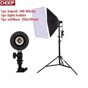 Freeshipping Photo Studio 키트 50x70cm 소프트 박스 + 40 * 80cm 라이트 스탠드 + 램프 홀더 액세서리 세트 사진 Softbox 조명 키트