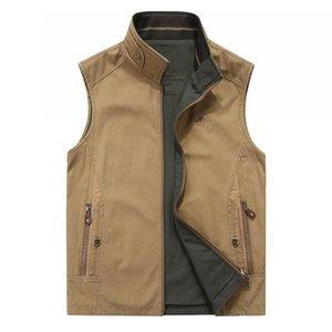 Moda Geri dönüşümlü Casual yelek erkekler Yelek Gevşek Çift yüzlü Coat Yelek Erkek Giyim Yelek Artı boyutu Tops