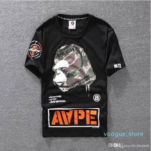 Summer Lovers Mens Cartoon Apes T -Shirts Fashion Crew Neck Short -Sleeve Classic Camo Printed Breath Male Tops Tees Cartton Casual Tees