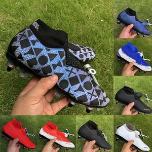 2019 VSN Phantom Elite DF SG fútbol zapatos para hombre easports Tacos de fútbol Negro Lux juego cargado peludo sobre los zapatos de fútbol de alta calidad