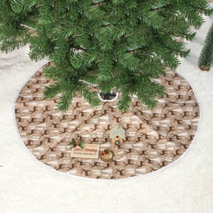 Limit 100 AU Christmas Deer Tree Skirt Decorations Stands Bases Floor Mat Home Xmas Christmas Decorations Festive & Party Supplies Decors