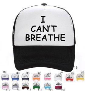 15styles Я не могу дышать Hat Unisex Baseball Cap Black Lives Matter Parade Caps Letter Print шляпы Мужчины Женщины партии Шаровые Шляпы GGA3463