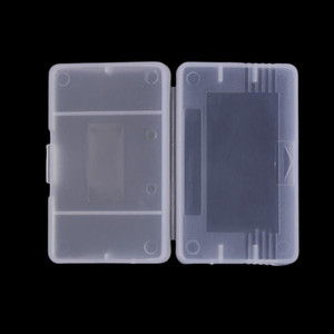 Casos de plástico transparente cartucho de juego Caja de almacenamiento caso protector titular de polvo cubre el reemplazo de Shell para Nintendo Game Boy Advance Game Boy GBA