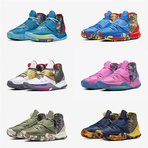 2020 Kyrie 6 Pré-aqueça NYC Miami Houston Shanghai Homens tênis de basquete Kyrie 6 Heal The Man World Designer Sneaker CN9839-401-404-600-801