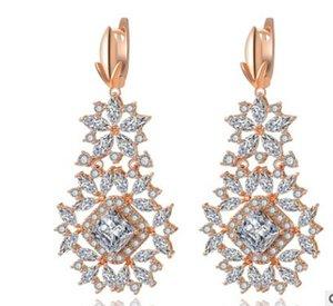 alta calidad más color dimaond crystal drops 925 silver 's earings 24.95jjdsd