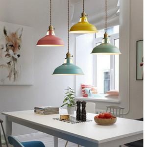현대 샹들리에 LED 펜던트 조명 멀티 컬러 다이닝 룸 레스토랑 램프 스위치 펜던트 램프 트위스트 와이어 홈 Decration 조명 E27