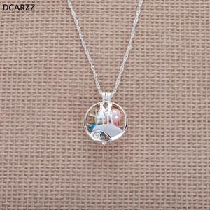 Pesadilla Antes de Navidad Jack y Sally Colgante Collar de Perlas Jaula Mujeres Perlas Collar de Plata Amantes Joyería de Regalo Al Por Mayor