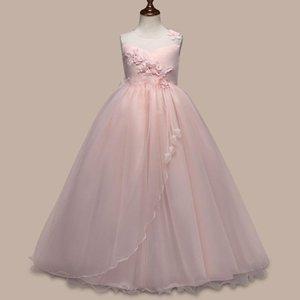 Europäische und amerikanische Prinzessin Rockmädchen Geburtstag Leistung der Kinder Perlen Spitze Peng Peng Blumenmädchenkleid Rock neu