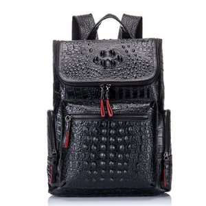 Charm2019 Backpack Man Both Shoulders Genuine Leather Crocodile Grain Male Package Cowhide A Tide Travelling Bag