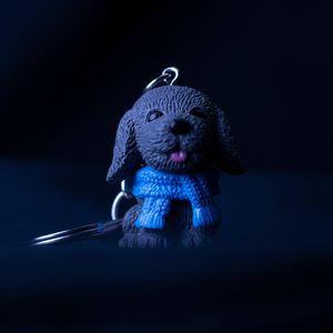 La figure de chien scarve jouet porte-clés trousseau mignon nouveau sac sera et bloque l'expédition de baisse de bijoux de mode de sable