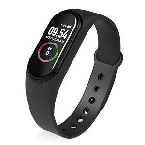 Lo nuevo M4 inteligente pulsera monitor de ritmo cardíaco del bluetooth SmartBand Salud rastreador de ejercicios para el apoyo iOS Android llamando envío de la gota de la cámara