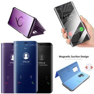 Oficial metálica Plating Inteligente Espelho Stand Case tampa flip completa para Samsung Galaxy A10S A20S M30S M30 M20 M10 A90 A70 A50 A40 A30 A20 A20E
