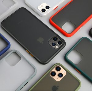 Anti-fingerprint Skin Touch Frosted Transparent Color Button Shockproof TPU Phone Case For iPhone 11 Pro Max XS XR 6s 7s 8s Plus