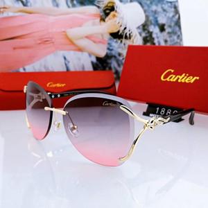 Hot verão das mulheres designer de óculos de sol de luxo óculos de sol adumbral óculos de sol óculos de sol estilo uv400 1886 3 cores de alta qualidade com caixa atacado