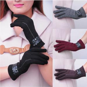 Moda Kadın Bayanlar ilmek Termal Çizgili Dokunmatik Ekran Eldiven Kış Sıcak Yeni (4 Renk)