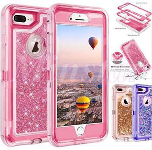 Luxo Crystal Liquid Glitter Phone Case 360 Graus Defender Capa para iPhone 12 SE2 11 Pro Max XR XS x 6 7 8 Plus Note 10 Pro S10 5G S10E