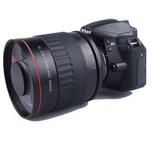 500mm F6.3 Telefoto Ayna Lens + T2 Montaj Adaptörü Yüzük Canon 550D 600D 650D için 700D 750D 760D 77D 6D 7D Nikon Kamera
