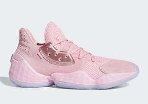 حار هاردن 4 الأحذية الوردي عصير الليمون بيع رخيصة مع صندوق جيدة الأحذية جيمس كرة السلة تخزين الشحن المجاني size40-46 بالجملة