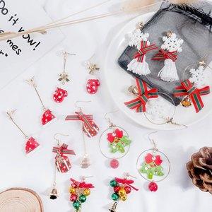 Weihnachten Ohrringe Ma'am Persönlichkeit Temperament Interesse Bogen Schnee Stück Ohrring