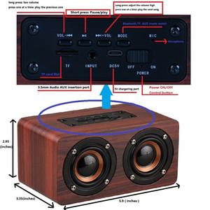 Holz drahtlose Bluetooth-Lautsprecher-beweglicher HiFi Shock Bass Altavoz TF caixa de som Soundbar für iPhone Sumsung Xiaomi Mode