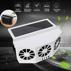 Solar Power Cooling Vent Exhaust With 3 Cooler Car Fan Portable Safe Auto Solar Fan Front Rear Window Air Vent Demister Ventilation System