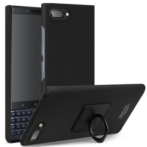 IMAK Matte Touch Cowboy PC Case for BlackBerry KEY 2 LE, with Holder & Screen Sticker