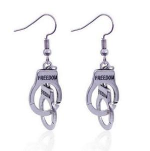 Mulheres oscilam podem ser abertas Brincos Chandelier Direção Mão Cuff algema brincos moda jóias Acessórios Freedom Prison