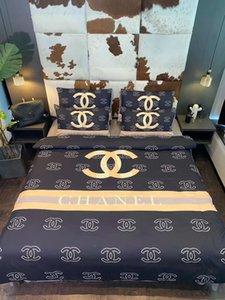 Literie de marque Cotton Sets Fashion Designer Linge de lit adulte confortable Textile Housse de couette 2 Taie d'oreiller Literie feuille