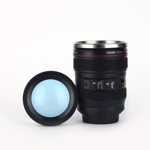 400ml Stainless Steel Camera Lens Mug With Lid New Fantastic Coffee Mugs Tea Cup Novelty Gifts Cups Drinkware EEA535